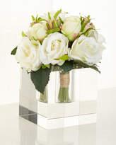 "John-Richard Collection Diamonds & Roses"" Faux Floral"