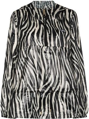 P.E Nation Rematch zebra-print jacket