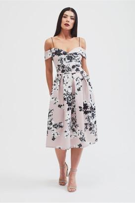 Bardot Belles Of London The Poppy off shoulder dress