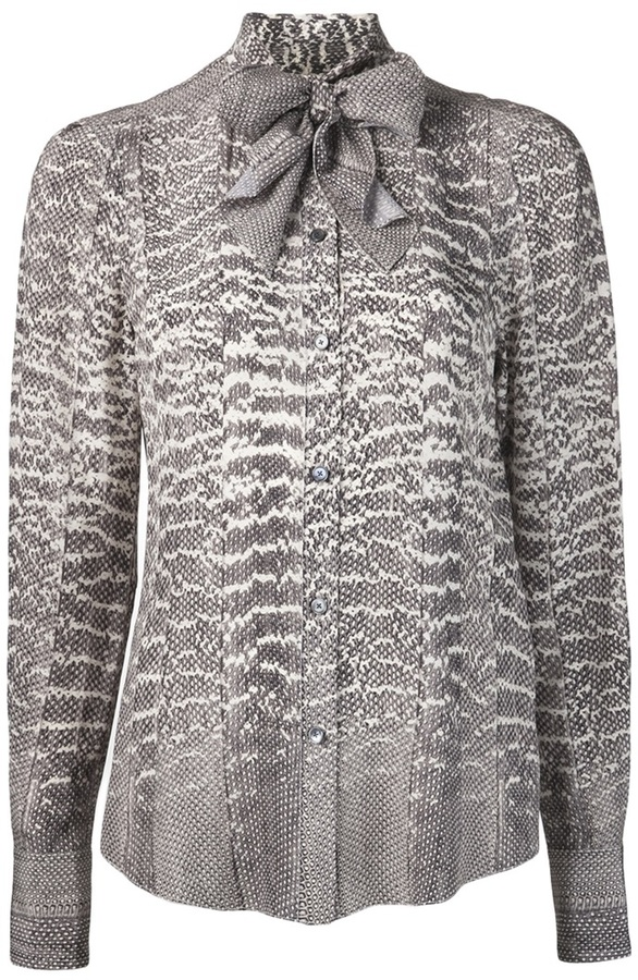 Jason Wu snake print button up blouse