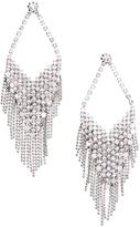 Love Rocks Crystal & Silvertone Fringe Drop Earrings