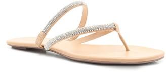 Schutz Marileide Rhinestone Strap Sandal
