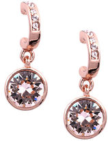 Givenchy Rose Gold and Swarovski Crystal Drop Earrings