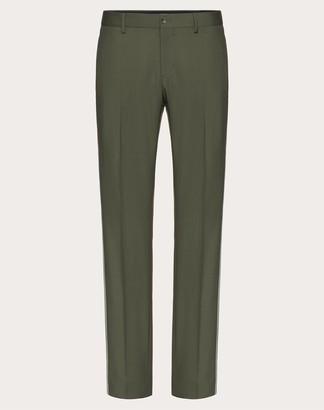 Valentino Mohair Wool Pants Man Blue Wool 84%, Mohair Wool 16% 44