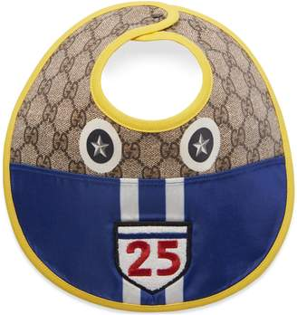 Gucci Baby GG bib with car motif