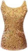 Eyekepper Women Shimmer Glam Sequin Embellished Sparkle Tank Top Vest Tops