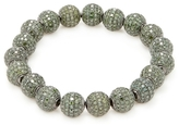 Artisan Silver & 22.99 Total Ct. Green Diamond Ball Bracelet