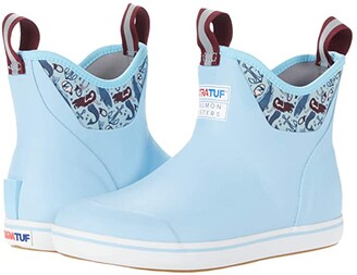 XTRATUF Salmon Sisters Blue Mermaid Life Ankle Deck Boot (Light Blue) Women's Shoes