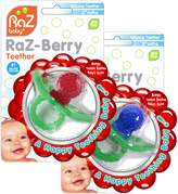 Razbaby Raz baby Raz-Berry silicone Teethers Double Pack Both Colors in One Package.