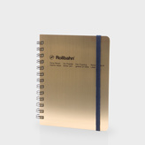 Paul Smith Delfonics - Medium Metallic Gold Rollbahn Notebook