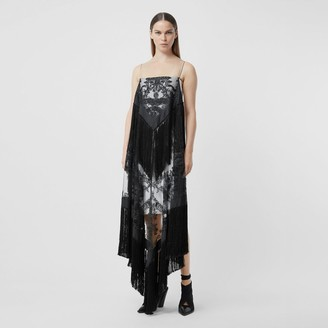 Burberry Fringed Embroidered Tulle