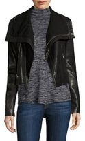 Veda Max Classic Leather Moto Jacket