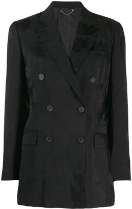 Salvatore Ferragamo Peonie double-breasted jacquard blazer