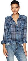 Lucky Brand Women's Gauze Button Down Shirt