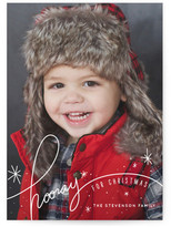 Minted Snowy Hooray Christmas Photo Cards