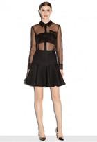 Milly Italian Twill Flounce Skirt