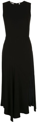 Vince Contrast Panel Asymmetric Dress