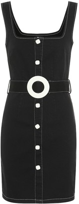 Solid & Striped Stretch-cotton denim minidress