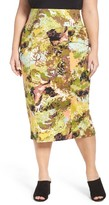 Melissa McCarthy Plus Size Women's Print Pencil Skirt