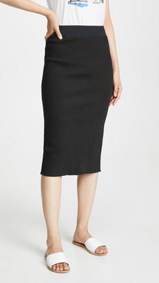 James Perse Midi Rib Skirt