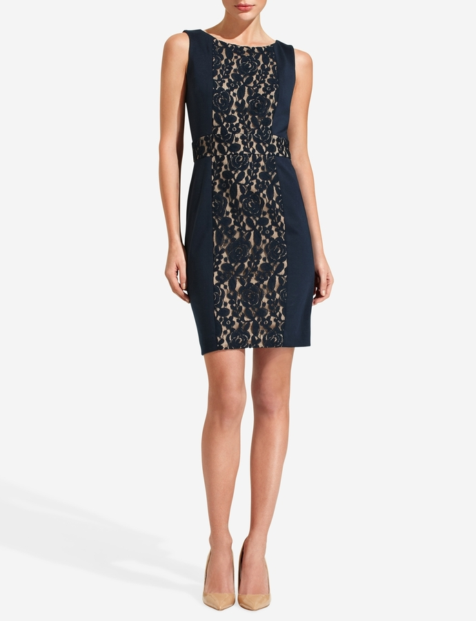 The Limited Lace Inset Sheath Dress