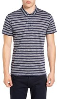 Peter Werth Men's Fence Stripe Jersey Polo