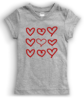 Urban Smalls Gray Hand-Drawn Hearts Tee - Toddler & Girls