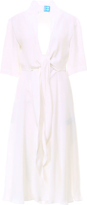 Off-White Off White Crepe Romantic Dress