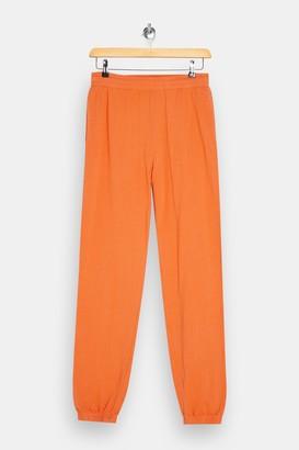 Topshop TALL Orange Fluorescent Oversized Sweatpants