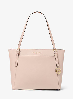 MICHAEL Michael Kors MK Voyager Large Saffiano Leather Top-Zip Tote Bag - Soft Pink - Michael Kors