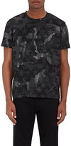 Valentino Men's Coated Camouflage-Print Cotton Jersey T-Shirt-BLACK