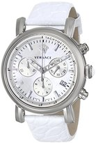 Versace Women's VLB010014 Day Glam Stainless Steel Watch with White Band