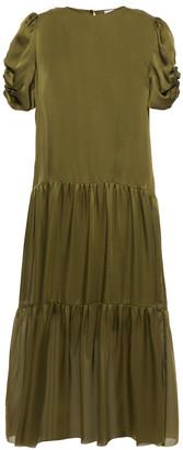CAMI NYC The Winona Ruched Silk-charmeuse Midi Dress