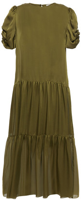 CAMI NYC Winona Ruched Silk-satin Midi Dress