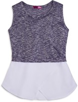 Aqua Girls' Chiffon Hem Tank, Big Kid - 100% Exclusive
