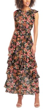 Rachel Roy Printed-Chiffon Maxi Dress