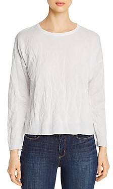 Eileen Fisher Puckered Round Neck Top