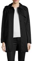 Cole Haan Woven Cotton Midi Coat
