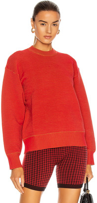 NAGNATA Sonny Crew Neck Sweater in Red & Bronze   FWRD