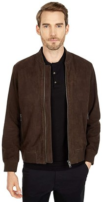 Selected B-01 Bomber Suede Jacket (Coffee Bean) Men's Clothing