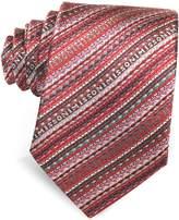 Missoni Diagonal Stripe and Signature Woven Silk Narrow Tie