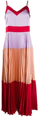 Twin-Set Colour Blocked Maxi Dress