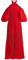 Giambattista Valli Twist-neck pleated silk-chiffon gown