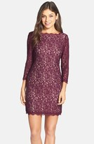Adrianna Papell Women's Lace Overlay Sheath Dress