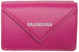 Balenciaga Pink Mini Papier Wallet
