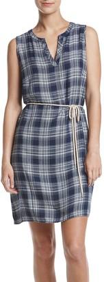 G.H. Bass & Co. Women's Drapey Twill Plaid Dress