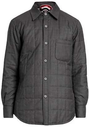 Thom Browne Downfill Quilted Shirt Jacket