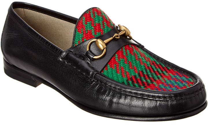 Gucci Leather & Tweed Loafer