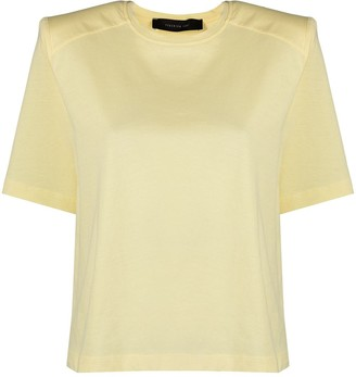 FEDERICA TOSI padded shoulder crew-neck T-shirt