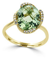 Effy Diamonds, Green Amethyst and 14K Yellow Gold Ring